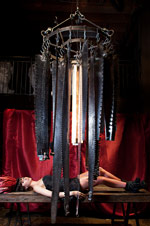 The Saw Blade Chandelier